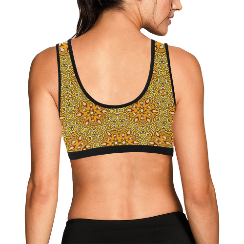 oriental Pattern 5 by JamColors Women's All Over Print Sports Bra (Model T52)