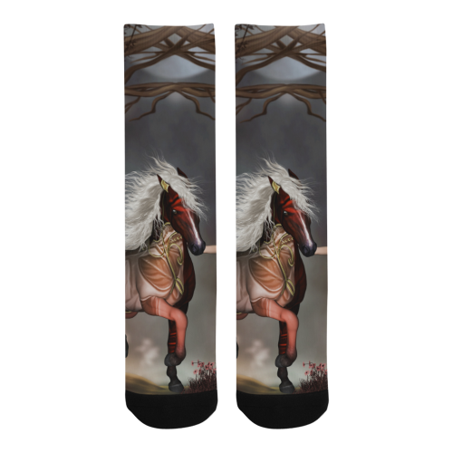 Fantasy horse with fairy Trouser Socks (For Men)