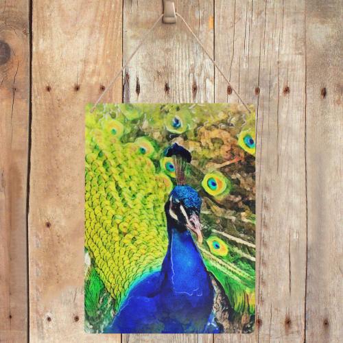 """peacock Metal Tin Sign 12""""x16"""""""