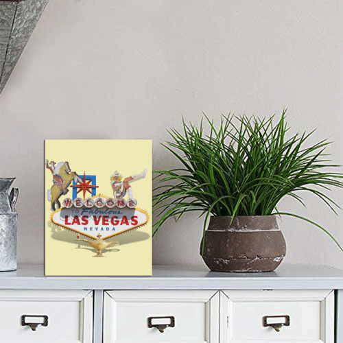 """Las Vegas Welcome Sign Photo Panel for Tabletop Display 6""""x8"""""""