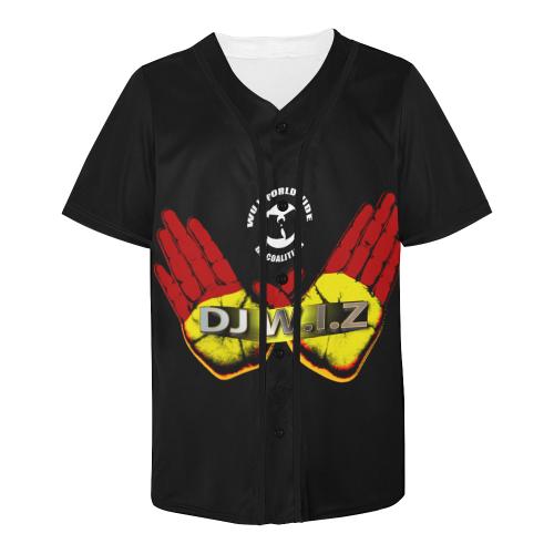 Swing & Miss DJ W.I.Z All Over Print Baseball Jersey for Men (Model T50)