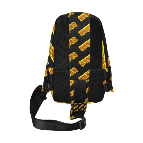 RAGER HELL ALL OVER black bag Chest Bag (Model 1678)
