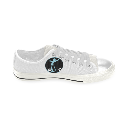 Baby DW wht Blue love Low Top Canvas Shoes for Kid (Model 018)