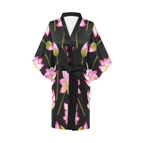 Pink Lotus Kimono Robe