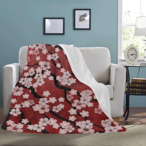 "Sakura Breeze Ultra-Soft Micro Fleece Blanket 60""x80"""