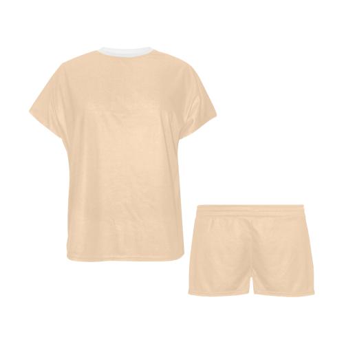 color peach puff Women's Short Pajama Set (Sets 01)