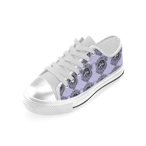three women blue Low Top Canvas Shoes (for Women)