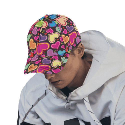 Heart  by Artdream All Over Print Dad Cap C (6-Pieces Customization)