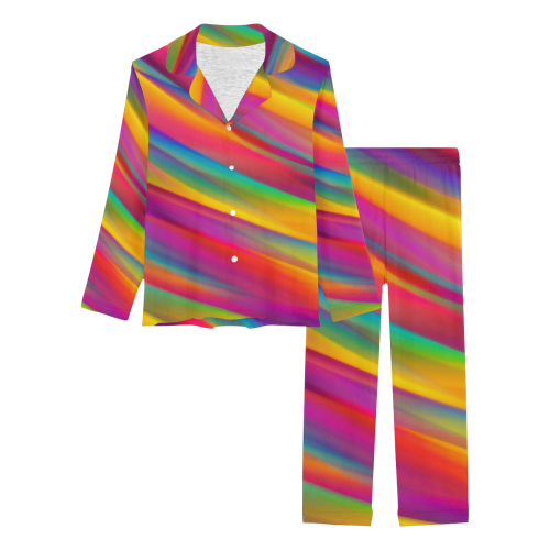 Rainbow Dreams Women's Long Pajama Set (Sets 02)