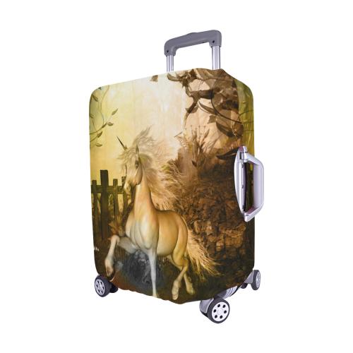 "White unicorn in the night Luggage Cover/Medium 22""-25"""