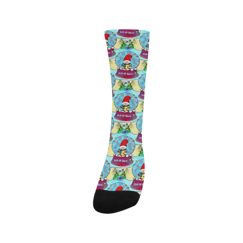Snow Popart by Nico Bielow Trouser Socks (For Men)
