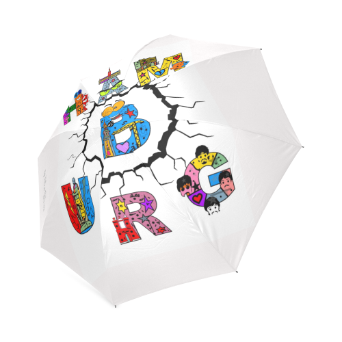 Hamburg Germany Pop Art by Nico Bielow Foldable Umbrella (Model U01)