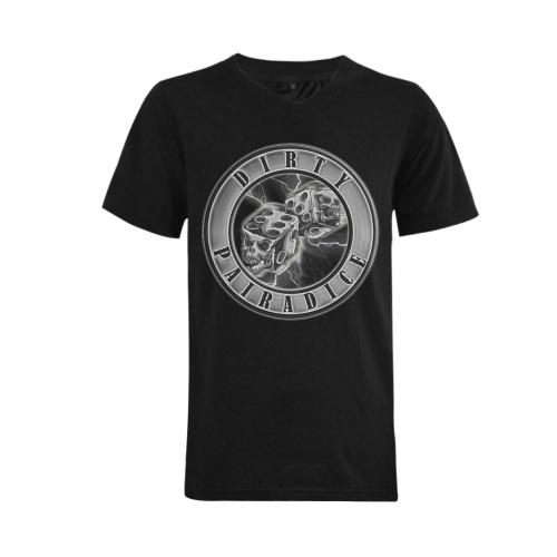 White Lightning Tee Men's V-Neck T-shirt (USA Size) (Model T10)