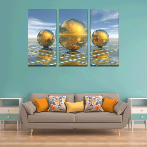 Big Brass Ones 7500 Canvas Wall Art X (3 pieces)