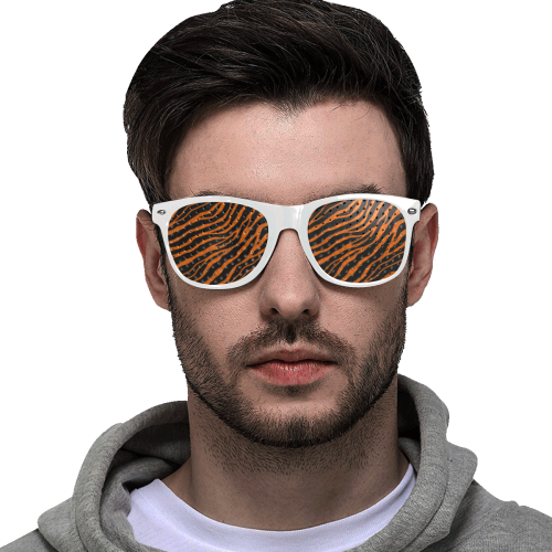 Ripped SpaceTime Stripes - Orange Custom Goggles (Perforated Lenses)