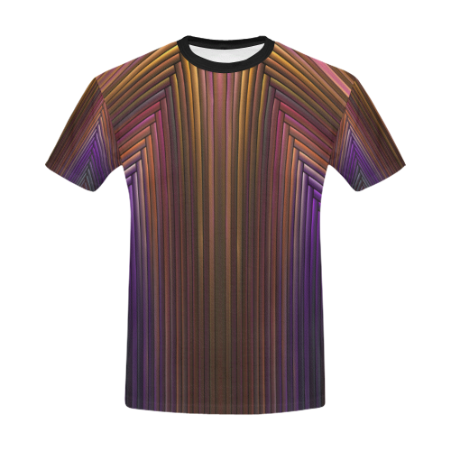 Art Deco Pattern II All Over Print T-Shirt for Men/Large Size (USA Size) Model T40)