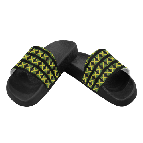 Jamaican Flags Women's Slide Sandals (Model 057)