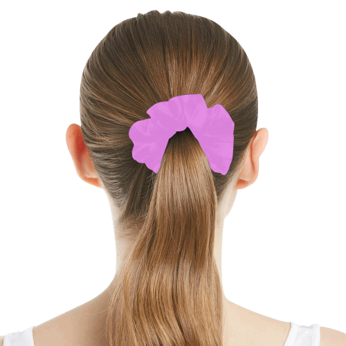 color violet All Over Print Hair Scrunchie