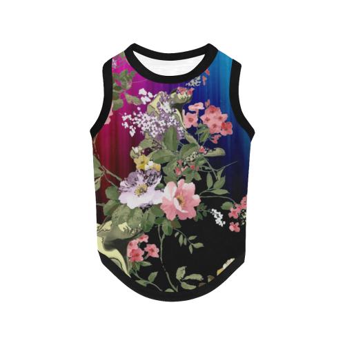 Flora Rainbow All Over Print Pet Tank Top