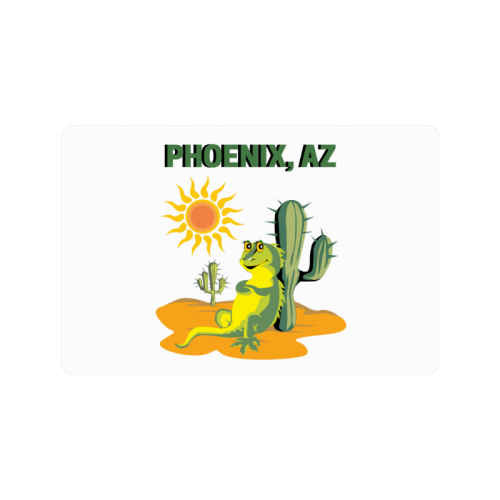 "Phoenix, Arizona Doormat 24""x16"""