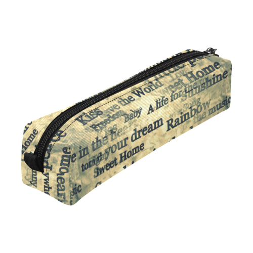 Letters by Nico Bielow Pencil Pouch/Small (Model 1681)