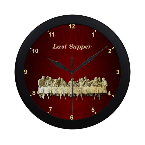 Last Supper Circular Plastic Wall clock