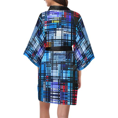 Colorful Modern Abstract Kimono Robe