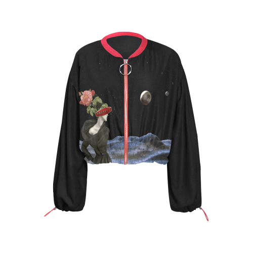 Moon Prefect Cropped Chiffon Jacket for Women (Model H30)