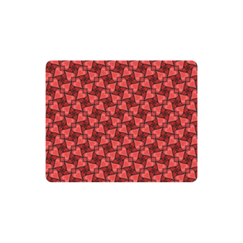 Red Hearts Love Pattern Rectangle Mousepad