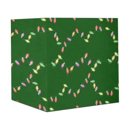 """Festive Christmas Lights on Green Gift Wrapping Paper 58""""x 23"""" (3 Rolls)"""