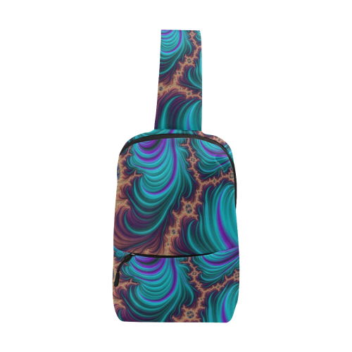 gorgeous Fractal 177 B by JamColors Chest Bag (Model 1678)