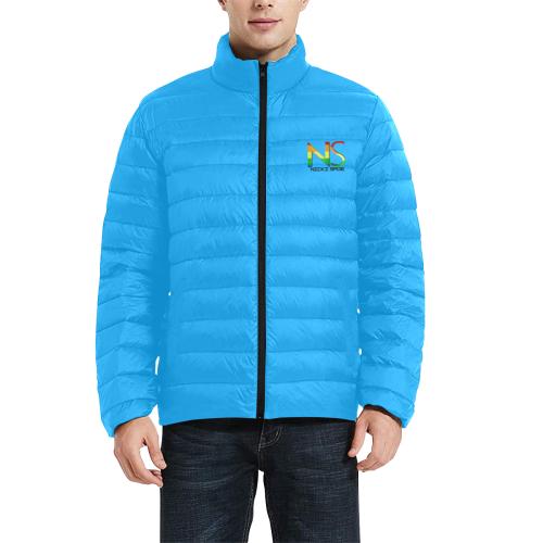IMG_9550-Editbb Men's Stand Collar Padded Jacket (Model H41)