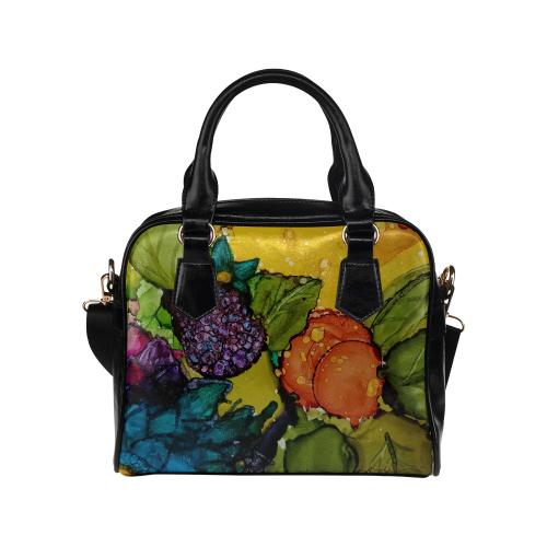 Fruit & Flowers Shoulder Handbag (Model 1634)