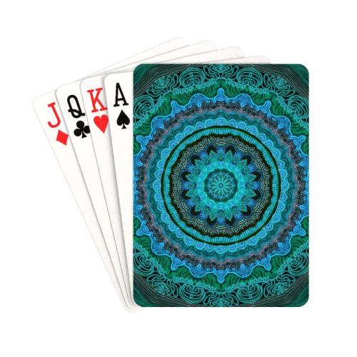 "mandala neon 8 Playing Cards 2.5""x3.5"""