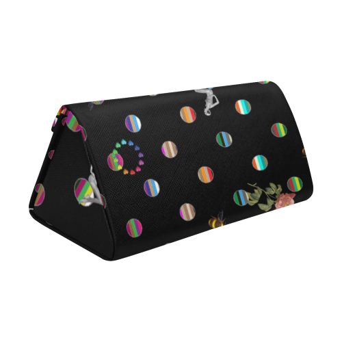 Rainbow Polka Custom Foldable Glasses Case