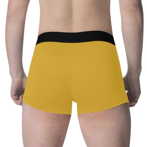color goldenrod Men's All Over Print Boxer Briefs (Model L34)