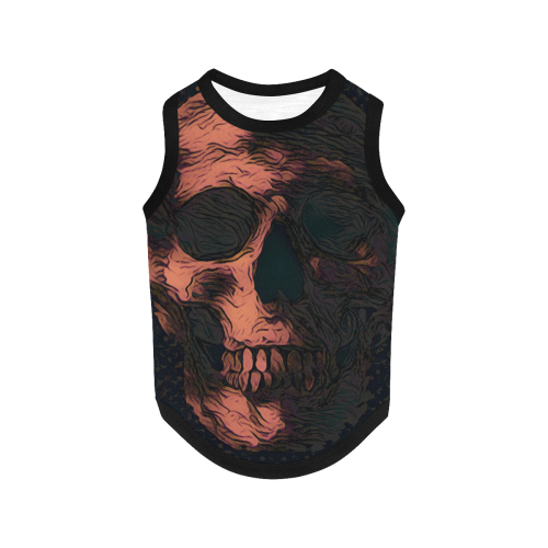 SKULL ART FOR DOG All Over Print Pet Tank Top