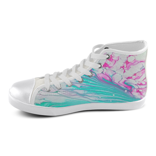 vivaldi's spring high top Women's High Top Canvas Shoes (Model 002)