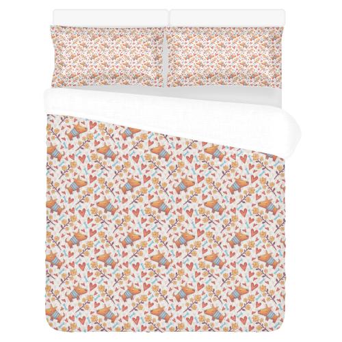 Cute Dog 3-Piece Bedding Set
