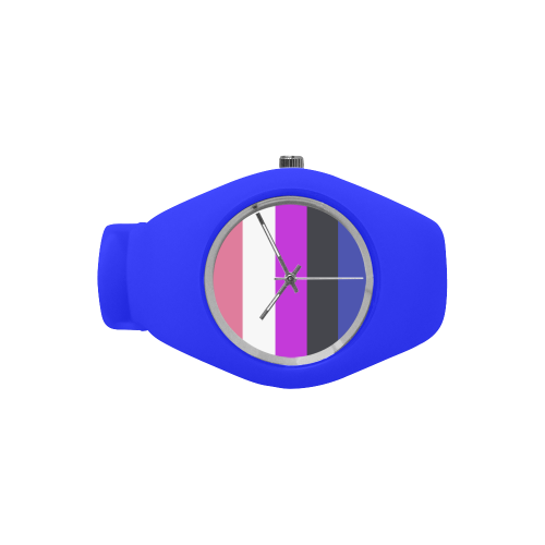 Gender Fluid Flag Simple Style Candy Silicone Watch (Model 315)