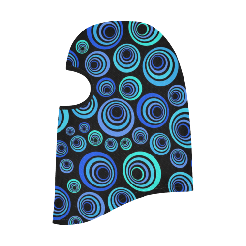 Retro Psychedelic Pretty Blue Pattern All Over Print Balaclava