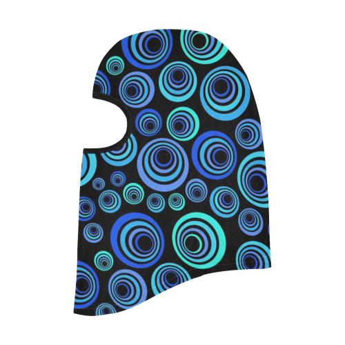 Retro Psychedelic Pretty Blue Pattern All Over Print Balaclava
