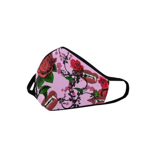 pink rose vampire Mouth Mask