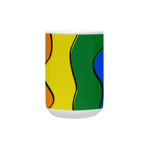 Gay Pride - Rainbow Flag Waves Stripes 1 Custom Ceramic Mug (15OZ)