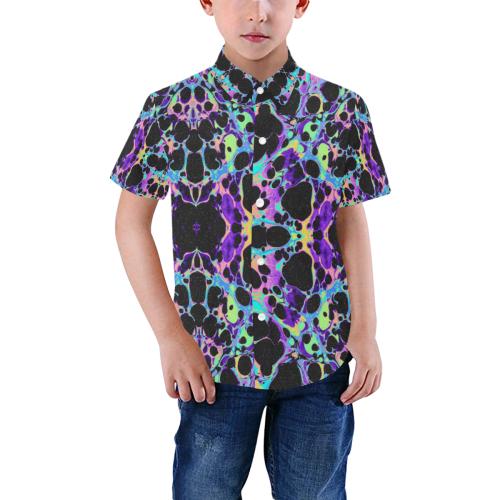 splat Boys' All Over Print Short Sleeve Shirt (Model T59)