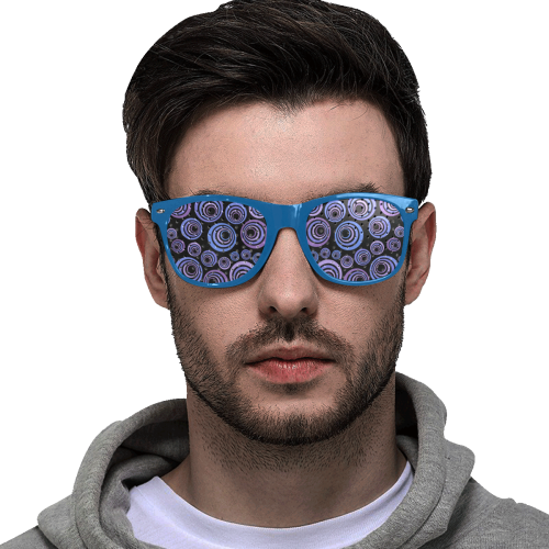 Retro Psychedelic Ultraviolet Pattern Custom Goggles (Perforated Lenses)