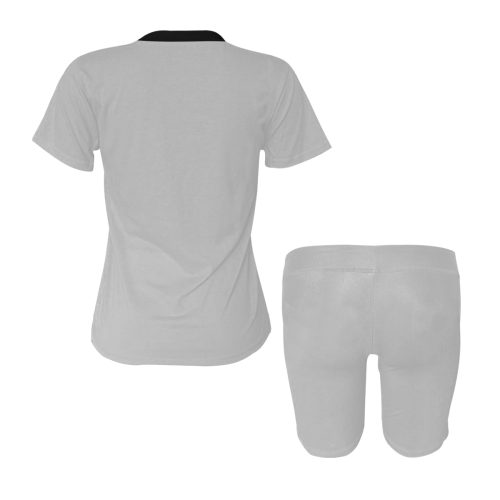color silver Women's Short Yoga Set (Sets 03)