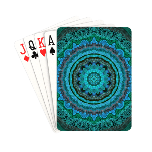 "mandala neon 8 Playing Cards 2.5""x3.5"""