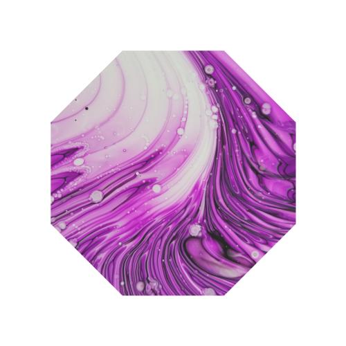 purple swirl. Anti-UV Auto-Foldable Umbrella (Underside Printing) (U06)