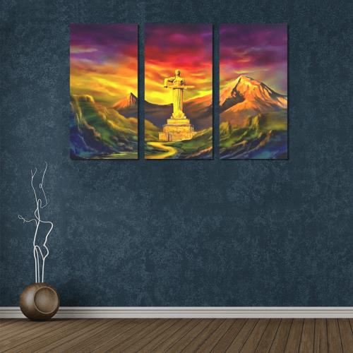 Mother Armenia Մայր Հայաստան Canvas Wall Art X (3 pieces)